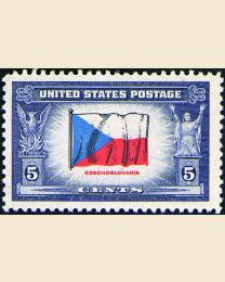 # 910 - 5¢ Czechoslovakia Flag