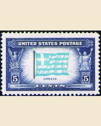 # 916 - 5¢ Greece Flag