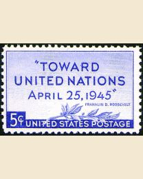 # 928 - 5¢ United Nations