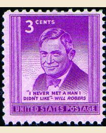 # 975 - 3¢ Will Rogers