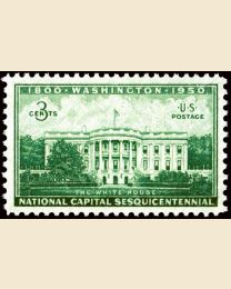 # 990 - 3¢ White House: plate block