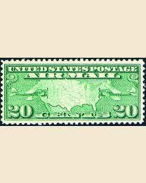 #C9 - 20¢ Map & Mail Planes