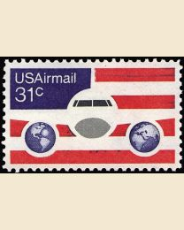 #C90 - 31¢ Plane, Globes & Flags