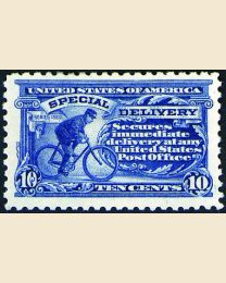 # E10 - 10¢ Messenger on Bicycle