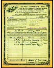 IRS Opium Order Form