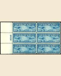 #C7 - 10¢ Map & Mail Planes: Plate Block