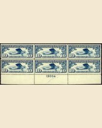 #C10 - 10¢ Spirit of St. Louis: Plate Block