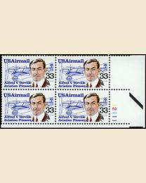 #C113 - 33¢ Alfred Verville: Plate Block