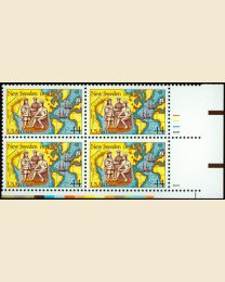 #C117 - 44¢ New Sweden: Plate Block