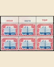 #C11 - 5¢ Rocky Mtn. Beacon: Plate Block