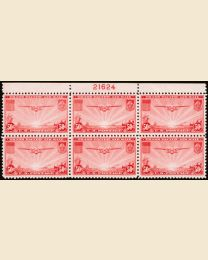 #C22 - 50¢ China Clipper: Plate Block