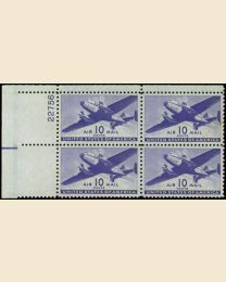 #C27 - 10¢ Transport: Plate Block