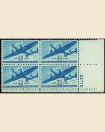 #C30 - 30¢ Transport: Plate Block