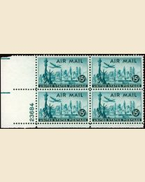 #C35 - 15¢ New York Skyline: Plate Block