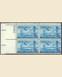 #C36 - 25¢ Plane over Bridge: Plate Block