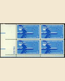 #C49 - 6¢ Air Force B 52: Plate Block