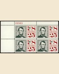 #C59 - 25¢ Abe Lincoln: Plate Block