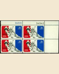#C87 - 18¢ Statue of Liberty: Plate Block