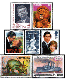 300 Worldwide Stamps
