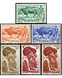 Cameroun #304-09 African Zebu & Native Women