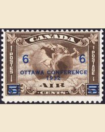 Ottawa Conference Airmail overprint from 1932
