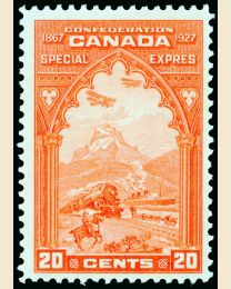 Canada #E3 - 20¢ Mail Transport