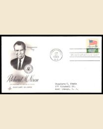 1969 Richard M. Nixon Inaugural Cover - note cachet and stamp on cover may vary