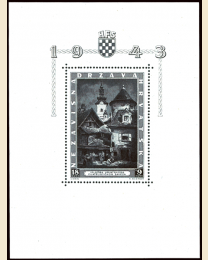 Croatia #B40 Zagreb Philatelic Exhibition