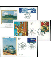 50 France First Day Covers