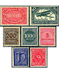 125 Mint German Inflation Stamps