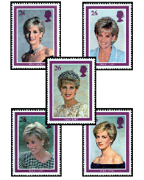 Great Britain Princess Diana Set of 5