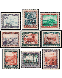 Liberation of Jakarta Airmails Mint Set of 9