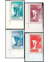 Lithuania's 1st Independence Issues - Set of 4