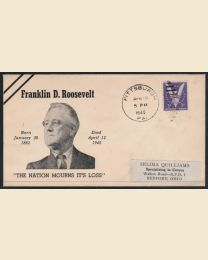 1945 Death of Franklin D. Roosevelt Cover