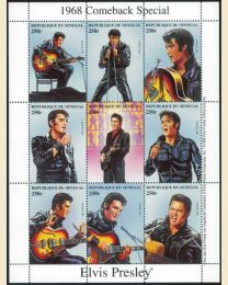 Elvis Presley Comeback Special mint sheet of 9