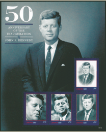 JFK 50th Sheet of 4