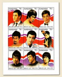 Bruce Lee Tanzania mint sheet