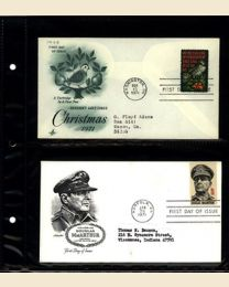 10 FDC Pages - holds 40 covers