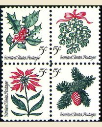#1254S - 5¢ Christmas Set of 4