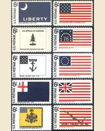 #1345S - 6¢ Historic Flags