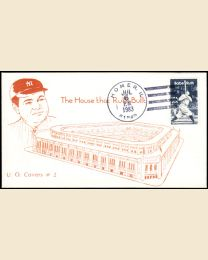 1983 Babe Ruth First Day Cover with Homer, IL postmark