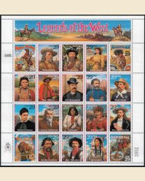 Legends of the West sheet of 20