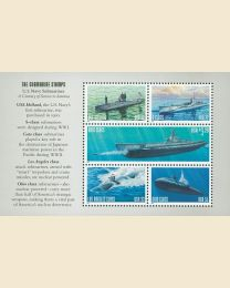 #3373S- 22¢ - $3.20 Submarine booklet
