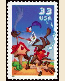 #3391a- 33¢ Road Runner & Wile E. Coyote