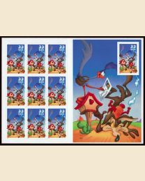 #3392 - 33¢ Road Runner & Coyote pane