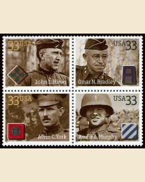 #3393S- 33¢ Distinguished Soldiers