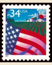 #3469 - 34¢ Flag over Farm