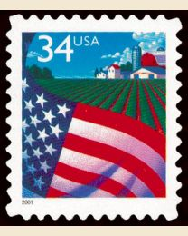 #3470 - 34¢ Flag over Farm