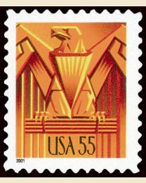 #3471 - 55¢ Art Deco Eagle