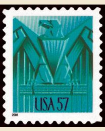 #3471A- 57¢ Art Deco Eagle